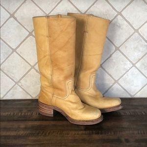 7.5 vintage Frye campus boot- banana